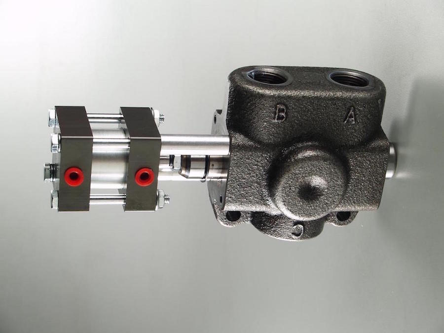 Cable Operated Hydraulic Valve : Air operated diverter valve pto hydraulics
